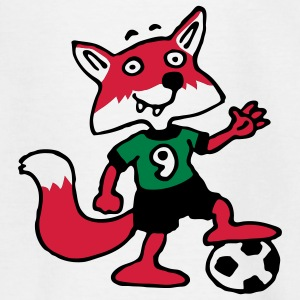 soccer_fox_k_white_3c Shirts - Teenager T-shirt