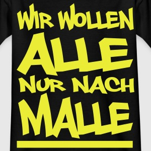 alle Malle! Kinder T-Shirts - Teenager T-Shirt