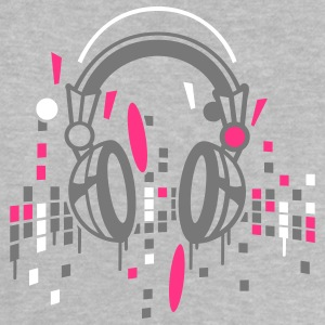 Heather grey headphones Babytröjor - Baby-T-shirt