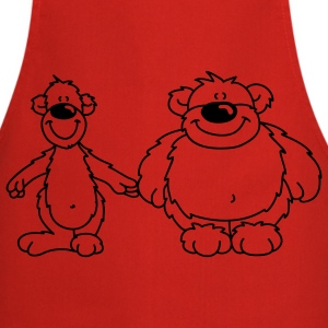 Two bears  Aprons - Cooking Apron