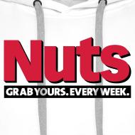 Design ~ Nuts Grab Yours Every Week - Men's Hoodie White