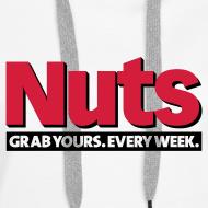 Design ~ Nuts Grab Yours Every Week - Women's Hoodie White