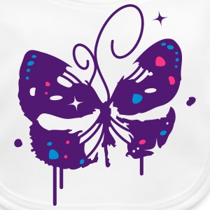 A butterfly graffiti Accessories - Baby Organic Bib