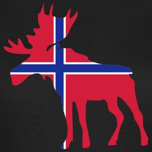 Moose, Elche, Norge, Noreg, Norway, Norwegen, Flags, Flaggen, Länder, countries, eushirt.com T-Shirts - Frauen T-Shirt
