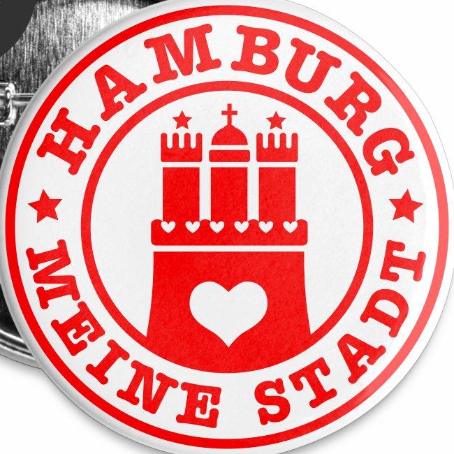 HAMBURG MEINE STADT Wappen Herz HH Anstecker / Button