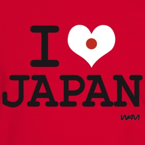 I LOVE JAPAN T-Shirts - Männer Kontrast-T-Shirt