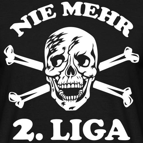 NIE MEHR 2. LIGA Totenkopf / Skull Fussball Fan 1c