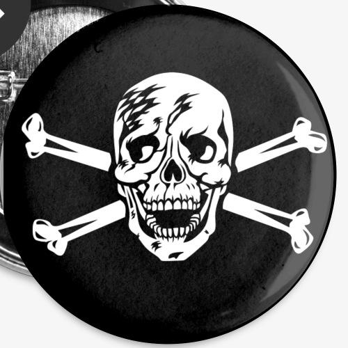 Totenkopf / Skull für Buttons Anstecker