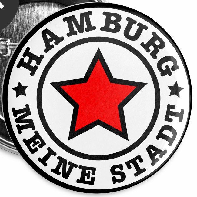 HAMBURG MEINE STADT Stern Star HH Anstecker / Button