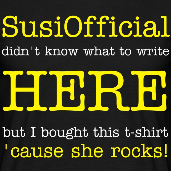 SUSIOFFICIAL ROCKS!