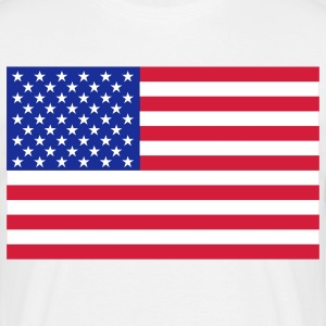 usa flag T-shirts - T-shirt herr