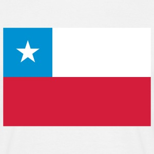 chile flag T-shirts - T-shirt herr