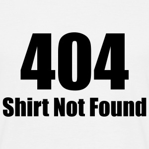 404 SHIRT NOT FOUND T-Shirt white, Motiv schwarz - Männer T-Shirt
