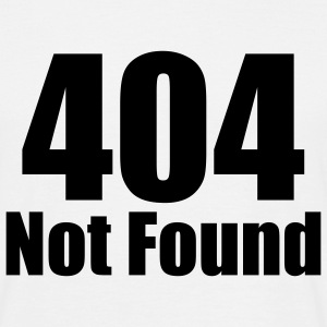 404 NOT FOUND T-Shirt white, Motiv schwarz - Männer T-Shirt