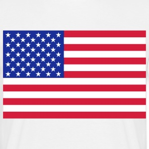 usa flag T-shirts - Mannen T-shirt