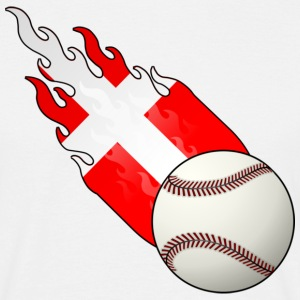 Fireball Baseball Denmark - Men's T-Shirt