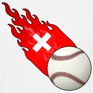 Fireball Baseball Switzerland - Men's T-Shirt
