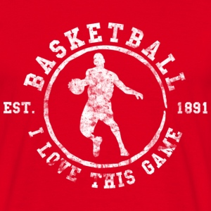 Basketball I Love This Game Est. 1891 (used look)  - Männer T-Shirt