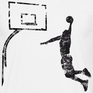 Basketball Dunk (used look) - Männer T-Shirt