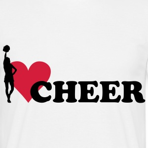 I love Cheerleading T-Shirts - Men's T-Shirt