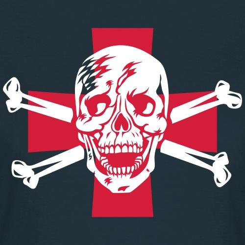 Totenkopf + Kreuz / Skull + Cross 2c