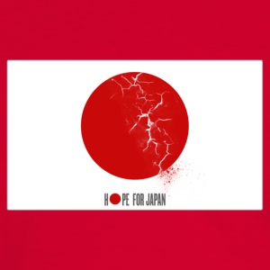 hope for Japan T-shirts - Kontrast-T-shirt herr