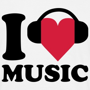 I love Music T-shirts - T-shirt Homme