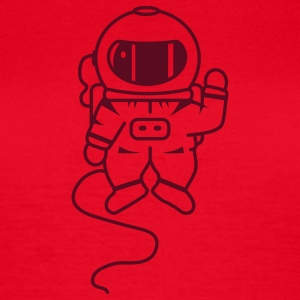 small astronaut in space T-Shirts - Women's T-Shirt