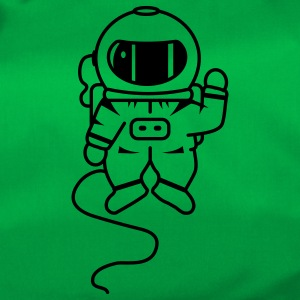 small astronaut in space Bags  - Duffel Bag