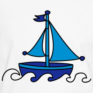 Blue Sailboat T-Shirts - Men's Ringer Shirt