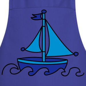Blue Sailboat  Aprons - Cooking Apron