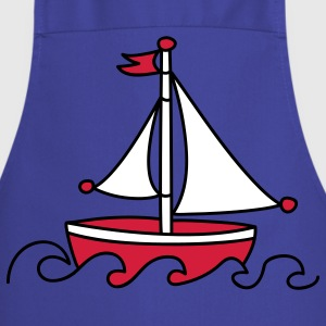 Red Sailboat  Aprons - Cooking Apron
