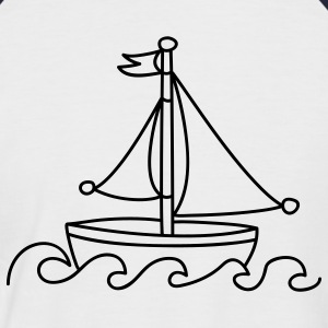 Blue Sailboat T-Shirts - Men's Baseball T-Shirt