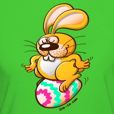 Bunny Sitting on an Easter Egg T-Shirts