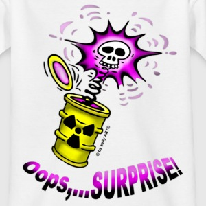 T-Shirt Kids Atommüll Oops Surprise lila Weiß neu© by kally ART® - Teenager T-Shirt