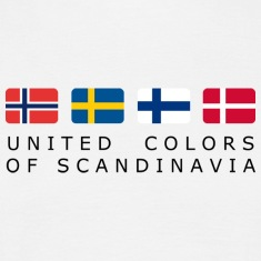 Classic T-Shirt UNITED COLORS OF SCANDINAVIA black-lettered