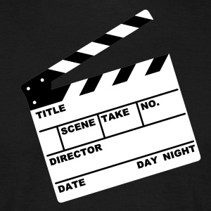 clapperboard (writable flex) :-: - Männer T-Shirt