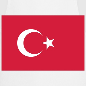 Flag Turkey (2c) Delantales - Delantal de cocina