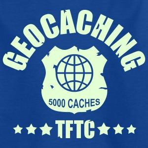 Geocaching Award 5000 -  glow in the dark - Camiseta adolescente