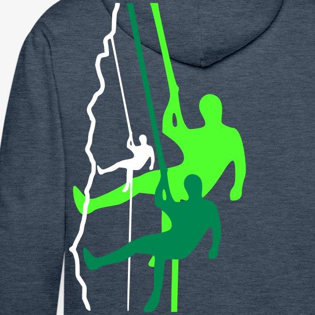 Drei Abseiler - grün (men)