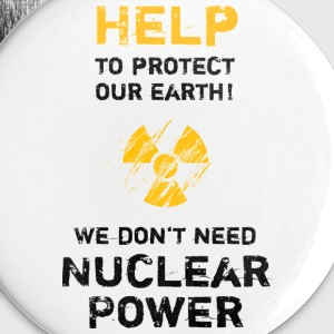 nuclear power black - Buttons klein 25 mm