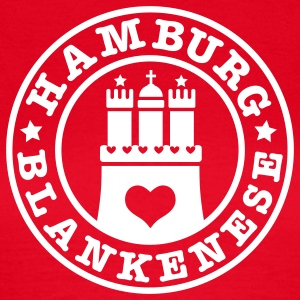 HAMBURG Blankenese - Hamburger Wappen Fan-Design HH Frauen Shirt rot - Frauen T-Shirt