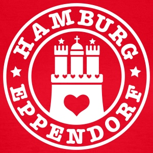 HAMBURG Eppendorf - Hamburger Wappen Fan-Design HH Frauen Shirt rot - Frauen T-Shirt