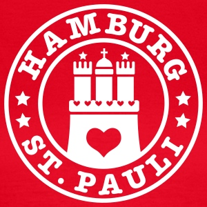 HAMBURG Sankt Pauli - Hamburger Wappen Fan-Design HH Frauen Shirt rot - Frauen T-Shirt