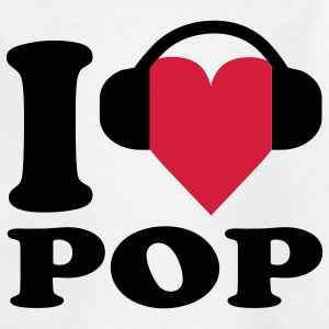 I love Music - Pop Kinder T-Shirts - Teenager T-Shirt