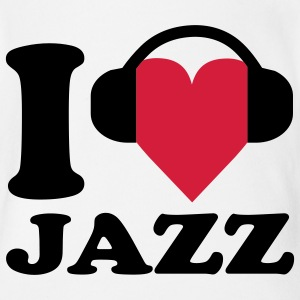 I love Music - Jazz Baby Bodysuits - Organic Short-sleeved Baby Bodysuit