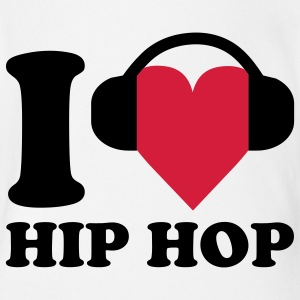 I love Music - Hip Hop Baby Bodysuits - Organic Short-sleeved Baby Bodysuit