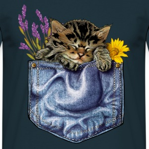 Cat in the pocket - Männer T-Shirt