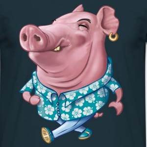 Hawaiian pig T-shirts - Mannen T-shirt