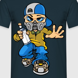 Graffitis boy and mask - Mannen T-shirt